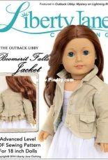 """Liberty Jane Clothing - Boomerit Falls Jacket for 18"""" Dolls"""