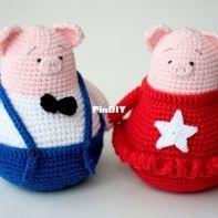 Happy Dolls Handmade - Julia Negovorina - Piggies Bond and Rosie - English and Russian