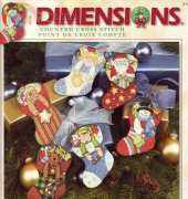 DIMENSIONS 08756 HOLIDAY STOCKING ORNAMENTS