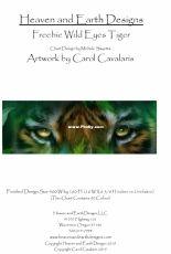 HAED Freebie Wild Eyes Tiger by Carol Cavalaris