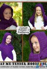 My Sweet Potato 3- Christine Mitchell- Wrap Me Tender Hooded Scarf