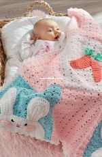 Red Heart LW5496 - Michele Wilcox - LUV My Bunny Blanket - Free