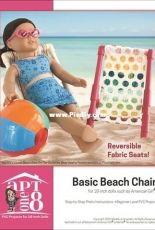 "Apt One 8 - Basic Beach Chair for 18"" Dolls"