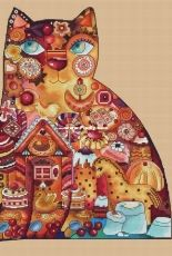 Gingerbread cat by Tatyana Draganova / Draganka Designs