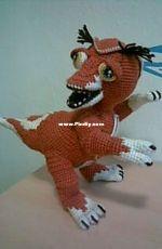 Amigurumi Artist - Gudrun Kulich - Phantasie T- Rex Baby Russian - Translated