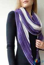 Maliha Designs-Pearldancer Shawl by Lisa Hannes-English