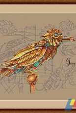 MiAxStitch - Bird Steampunk by Jane Eyre / Minasyan Yana