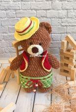 Evgenia Knitted Toys - Evgenia Gavrilova - Plush Bear Mikhasya - Russian - Free