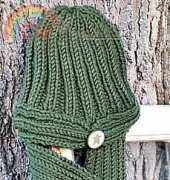 Button Hat & Scarf by Lorna Miser-Free