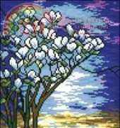 Tiffany Stained Glass Irises from Kram z Robótkami 1/2005 Special addition. Easter XSD