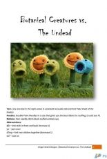 Botanical Creatures vs. The Undead by Ginger Grant /Gingervitis-Free