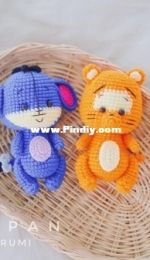 Orange Amigurumi - Namsom Pan - Tigger and Eeyore