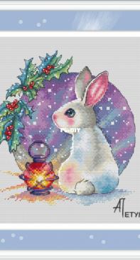 AP-334 Christmas Bunny by Anna Petunova