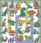 ABC Dinosaurios xsd - Jurassic Stitch from Cross Stitch Gold