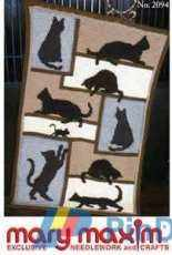 Mary Maxim MM2094 - Cat Silhoutte Graph Afghan