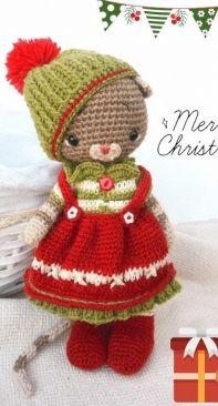 Polushka Bunny - Maria Ermolova - Christmas Baby Clothes Only