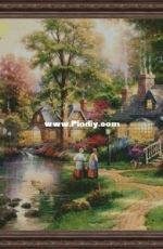 Oriole Cross Stitch - Evening in the Village