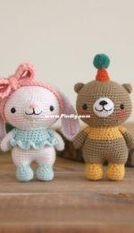 bigbebez - Mini bunny and bear - mumu and popo