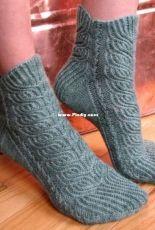 Heather Bines Socks by Hunter Hammersen