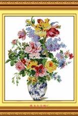 CMC HC165 - Blue and White Porcelain - Spring Bouquet