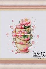Flower Cups - Petit Point Ksenia Glushkova