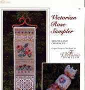 The Victoria Sampler 72 - Bellpull and Ornament Victorian Rose Sampler