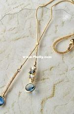 YA -713 Blue chain fringe necklace - Wakana Aizawa - Japanese - Free