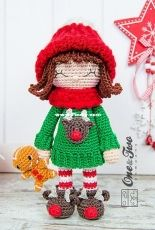 One and Two Company - Carolina Guzman - Ginger the Christmas Dolly amigurumi