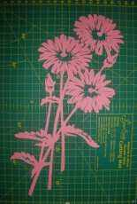 Kirigami chrysanthemum