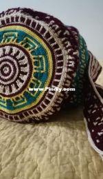 Mosaic crochet bag