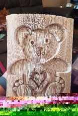 Folded book teddy bear