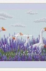 Goose in lavender by Natalia Cherepanova