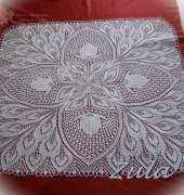 knitting doilies - my work