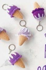Air Toys - Amigurumi Ice Cream Keychain - English and Turkish - Translated - Free