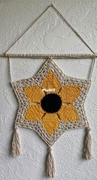 Sunflower Wall Hanging  High Desert Yarn