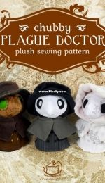 Sew desu ne? - Plague Doctor Plush Sewing Pattern by Choly Knight