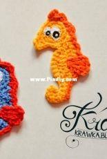 Krawka - Kamila Krawczyk - Seahorse Applique - Free