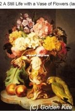 Golden Kite 1782 - A Still Life with a Vase of Flowers (large) XSD