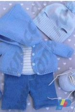 Olga Yanina Boy Bear clothes in Russian Knitted Outfit