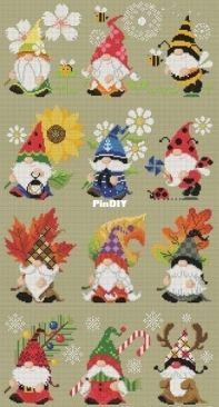 Soda Stitch - SO-OP246 - Four Seasons of Gnome -