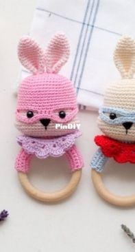 RNata - Superhero Bunny teether/rattle - English