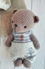 Wool Toys Marina - Marina Popova -  Crochet Bear
