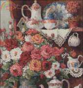 Art-goblen - Roses and China