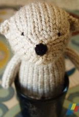 Henri the Knitted Bear by Rachel Borello Carroll /The Yarnigans-Free