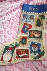 Dimentions - Christmas stamp stocking