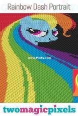 Two magic pixels - Rainbow dash portrait