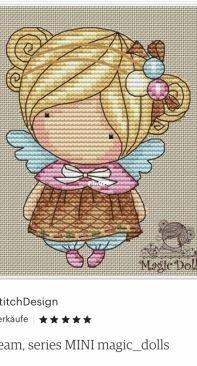 MikaStitchDesign- Ice Cream- Mini Magic Dolls