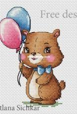 Svetlana Sichkar - Bear with Balloons