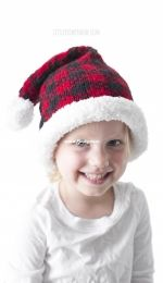 Buffalo Plaid Santa Hat by Cassandra May