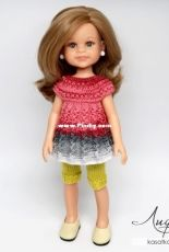 Kasatka Dolls Fashions - Oksana Lifenko - Openwork Tunic For Dolls Paola Reina - Russian - Free